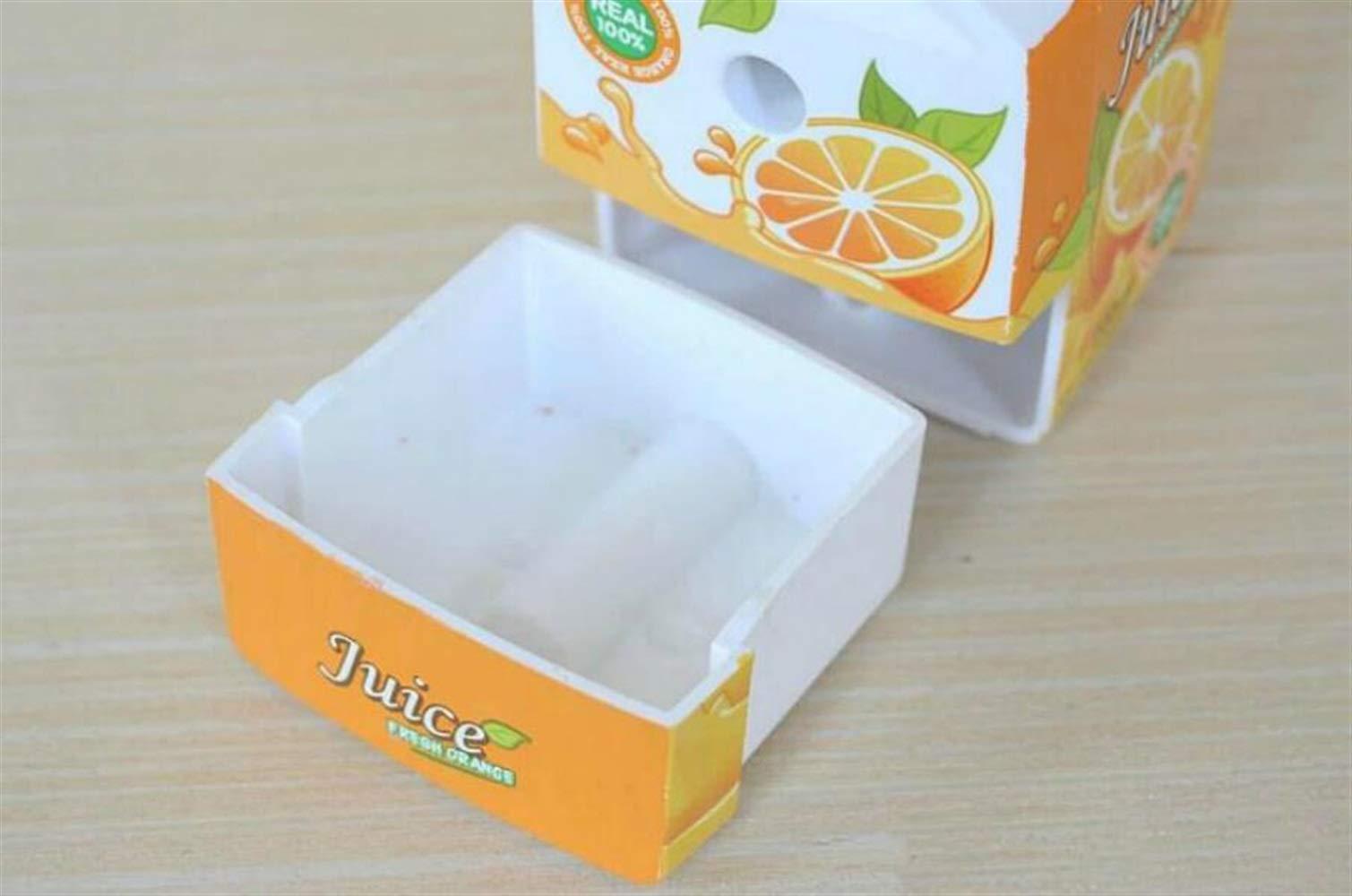 DDOQ Useful - Sacapuntas de leche (1 unidad, con forma de caja de leche), color rojo: Amazon.es: Oficina y papelería