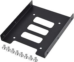 """TRIXES Support de disque dur adaptateur de montage 2,5"""" vers 3,5"""" SSD en métal noir de la marque"""
