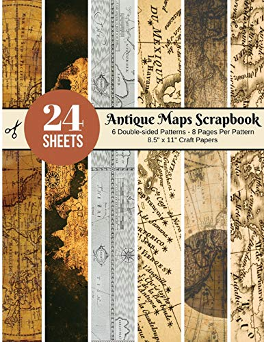Compare Textbook Prices for Vintage Maps Scrapbook Paper – 24 Double-sided Craft Patterns: Travel Map Sheets for Papercrafts, Album Scrapbook Cards, Decorative Craft Papers, ... Antique Old Ornate Printed Designs & More  ISBN 9781703372694 by Around, Scrapbooking