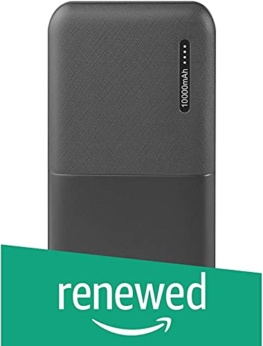 Renewed Ambrane 10000Mah Lithium Polymer Power Bank Capsule 10K Black