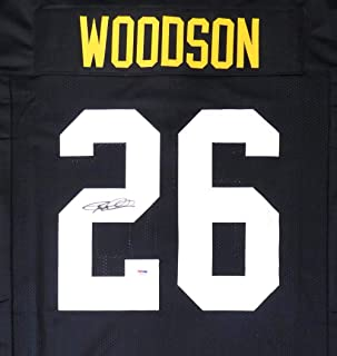Pittsburgh Steelers Rod Woodson Autographed Black Jersey PSA/DNA Stock #148638