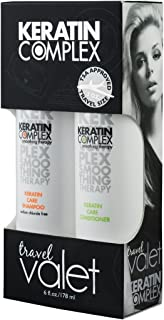 Keratin Complex Travel Valet Care Kit by Keratin for Unisex - 2 Piece Kit