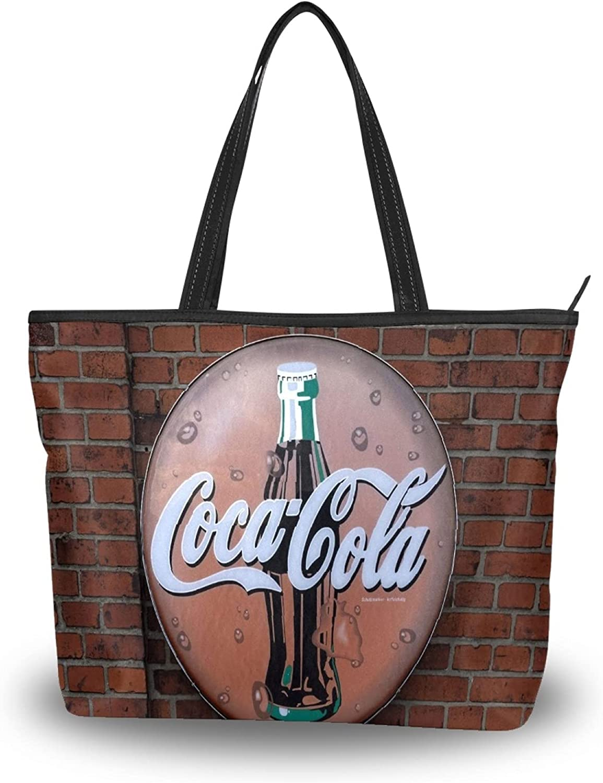 Womens Tote Bag Shoulder Coca Lowest price challenge Handle Handba Satchel Cola Max 42% OFF Top