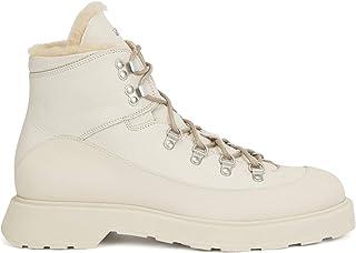 BOSS Hommes Gladwin Halb Bottines Style Chaussures de randonnée en Cuir imprimé avec Doublure en Peau retournée