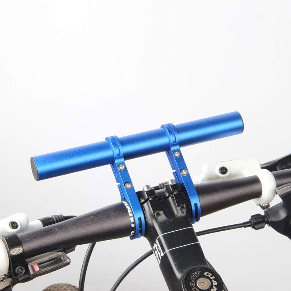 TFJ Bike Handlebar Extender Multifunction Double Bicycle Handlebar Extension Lightweight Aluminum Alloy for Holding Motorcycle E-Bike Lamp Speedometer GPS Phone Mount Holder