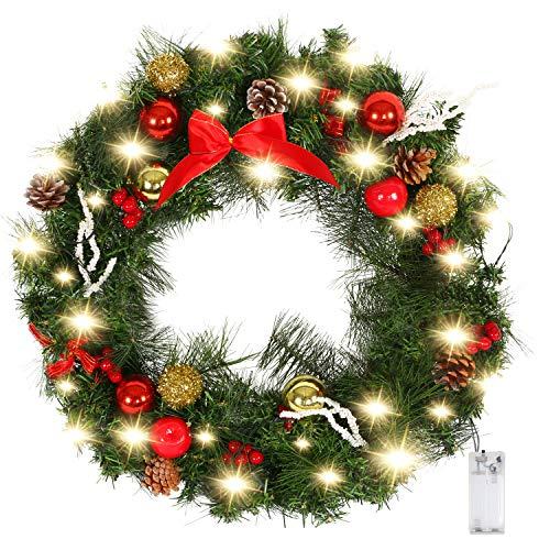 Best Christmas Wreath With Ornaments My Sleek Home - Christmas Wreath Lights