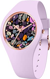 Ice-Watch - Ice Flower Lilac Petals - Montre Violette pour Femme avec Bracelet en Silicone - 017580 (Medium)