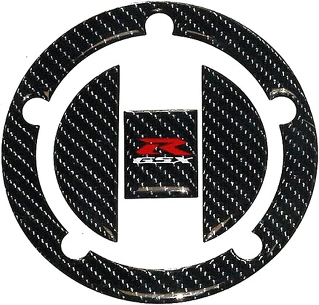 DAFEICHUAN Etiqueta de la Tapa del Tanque de Combustible de la Motocicleta Fibra de Carbono 3D para Suzuki GSXR GSXR 600 750 1000 1300 AB Bird SV650 K4 K5 K6 K7 K8 K9 K11 (Color : Tank Cap)