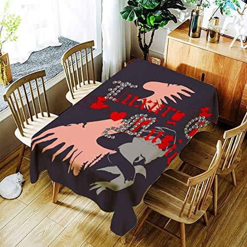 XXDD Mantel de Jirafa de Dibujos Animados patrón Animal Creativo cómodo hogar Impermeable y Cubierta de Mantel a Prueba de Polvo A9 140x200cm