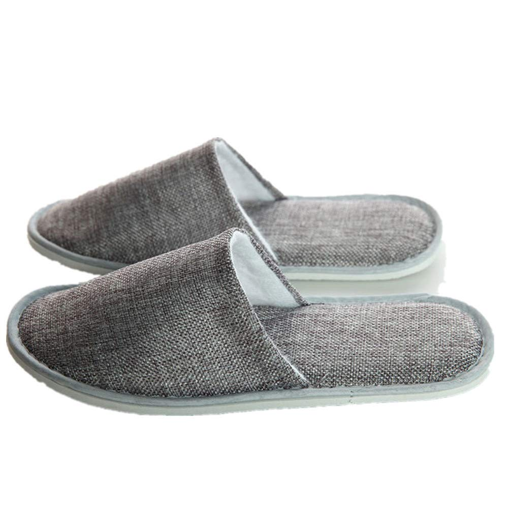 4 Max 52% OFF Pair Ranking TOP20 Spa Slippers Linen Casual and Women for Men Univ