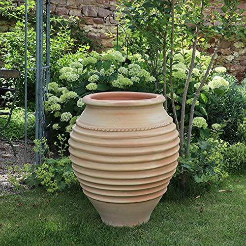 Céramique crète   Amphore méditerranéenne en terre cuite   70 cm   antigel   amphore végétale de haute qualité pour le jardin, terrasse, balcon, ficus