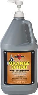 Kutol Pro 4913 Orange Scrub Heavy Duty Hand Cleaner, 1 Gallon Pump Bottle, Orange with Orange Scent (Case of 2)