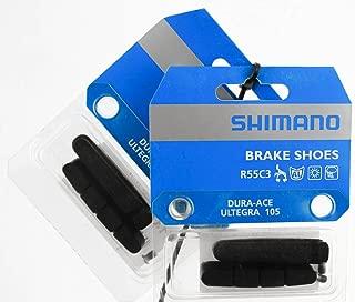 Shimano R55C3 Road Brake Pads for Carbon Rims Pair (Black)