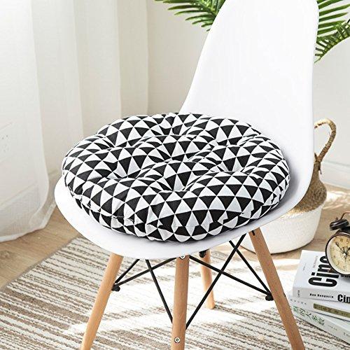 D&LE 100% Coton Rond Coussins Tatami Épais Imprimer Couvert Booster Coussin de siège Respirante Douce Office Fauteuil Chaise de Jardin Coussins de-B 45x45x8cm