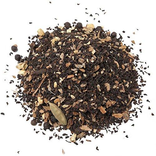 Aromas de Té - Té Chai Negro a Granel con Canela, anís, Jengibre, Clavo, Pimienta Negra, Achicoria y Semillas de Cardamomo, 100 Gr