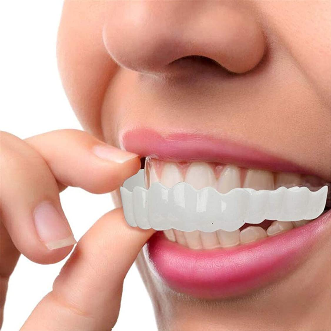 考慮野心チャンピオンシップ化粧品の歯、白い歯をきれいにするコンフォートフィットフレックス歯ソケット、超快適、快適なフィット感、3セット