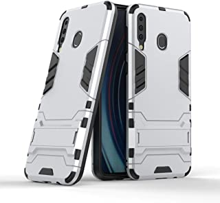 FanTing Case for LG W30 Pro, Rugged and shockproof,with mobile phone holder, Cover for LG W30 Pro-White
