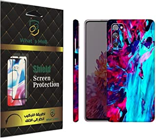 For SAMSUNG Galaxy S20 FE back full skin Abstract 03 soft felling Hd print by whats mob (Not Cover)