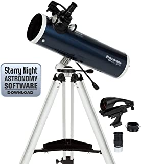 Celestron Omni XLT AZ - Telescopio astronómico (130 mm de Apertura, 650 mm de Distancia Focal, f/5 de relación Focal) Color Azul y Blanco