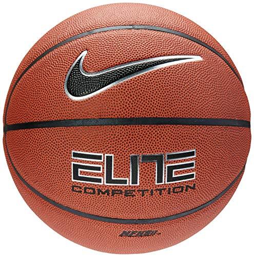 Nike Erwachsene Elite Baskettball, Amber/Black/Metallic Silver, 7