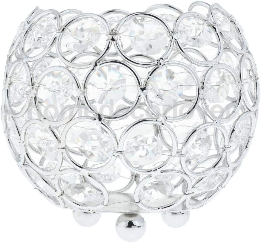 ZZABC Factory outlet Crystal Candle Holder Finally resale start Centerp Banquet Candlestick Tabletop