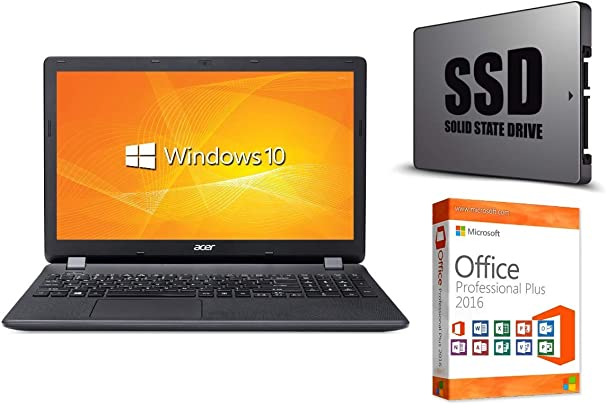 Laptop Extensa 2519 256GB SSD 8GB RAM Windows 10 Pro MS Office 2016 Pro 39cm  15 6 quot  LED TFT