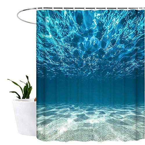 Lonior Ocean Shower Curtain Waterproof Mould Proof Resistant Bathroom Curtain Washable Bath Curtain...