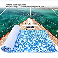 Decking Sheet, Boat Flooring Carpet Resistant To Seawater for Yacht(Blue and white camouflage)
