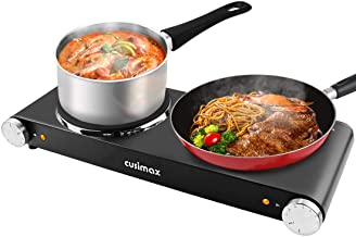 CUSIMAX 1800W Double Hot Plates, Cast Iron hot plates, Electric Cooktop, Hot Plates for..