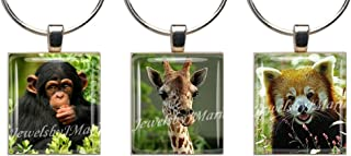 ZOO ANIMALS ~ Scrabble Tile Wine Glass Charms ~ Set of 3 ~ Stemware Charms/Markers/Pendants