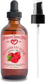 SALE! 4oz Red Raspberry Seed Oil, 100% Pure and Natural, Organic, Moisturizing Gentle Oil for Skin and Hair - Includes Pum...