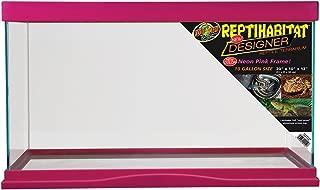 Zoo Med 78081 Reptihabitat Designer Terrarium, 10 Gallon, Neon Pink