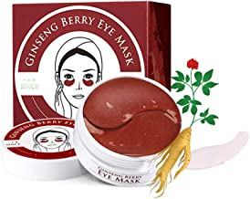 Xiton 60Sheets Eye Treatment Mask Ginseng Berry Under Eye Patches Anti-Aging&Wrinkle Eye Gel Mask Sleep Mask For Dark Circles Collagen Eye Pads Under Eye Bags Removal For Women And Girls