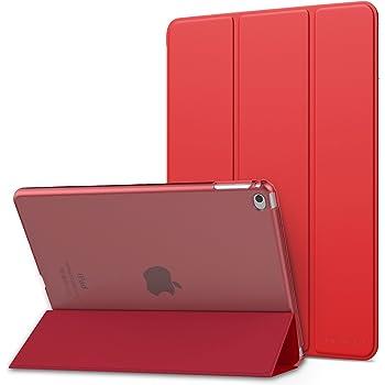 MoKo - Ultra Sottile Leggero Custodia con Retro Semi-Trasparente Rigido per iPad Air 2, 9.7 inch, Rosso
