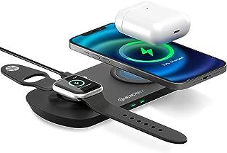 Cargador inalámbrico Rápido, Estación de Carga Rápida Qi Inalámbrica Soportes de Carga de para iPhone 12/12 Pro/12 Pro Ma...