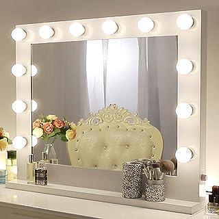Chende Blanco Espejo de Maquillaje con Luz, Espejo Hollywood