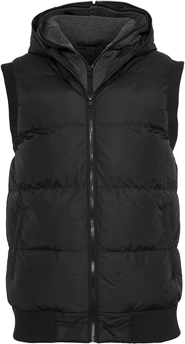 Urban Classics Double Hooded Vest Chaleco para Hombre