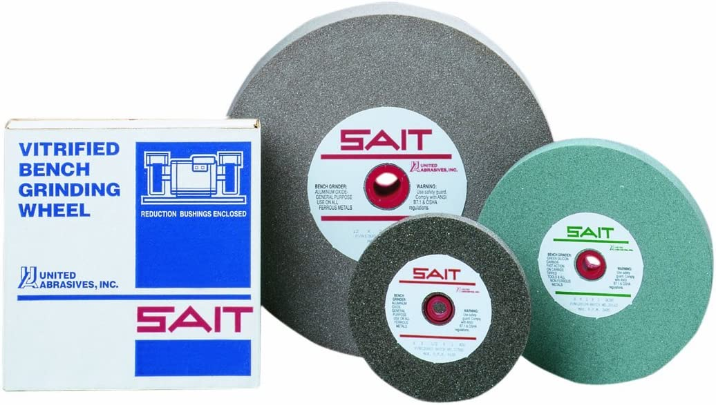 1-Pack United Abrasives-SAIT 28006 6 by 1 by 1 A36X Bench Grinding Wheel Vitrified
