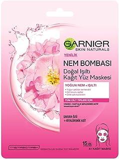 Garnier Skin Naturals Nem Bombası Işıltı Verici Kağıt Yüz Maskesi 1 Paket (1 x 32 g)