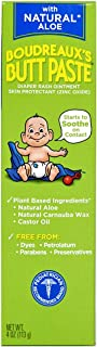 Boudreaux's Butt Paste Diaper Rash Ointment | With Natural Aloe | 4 Oz