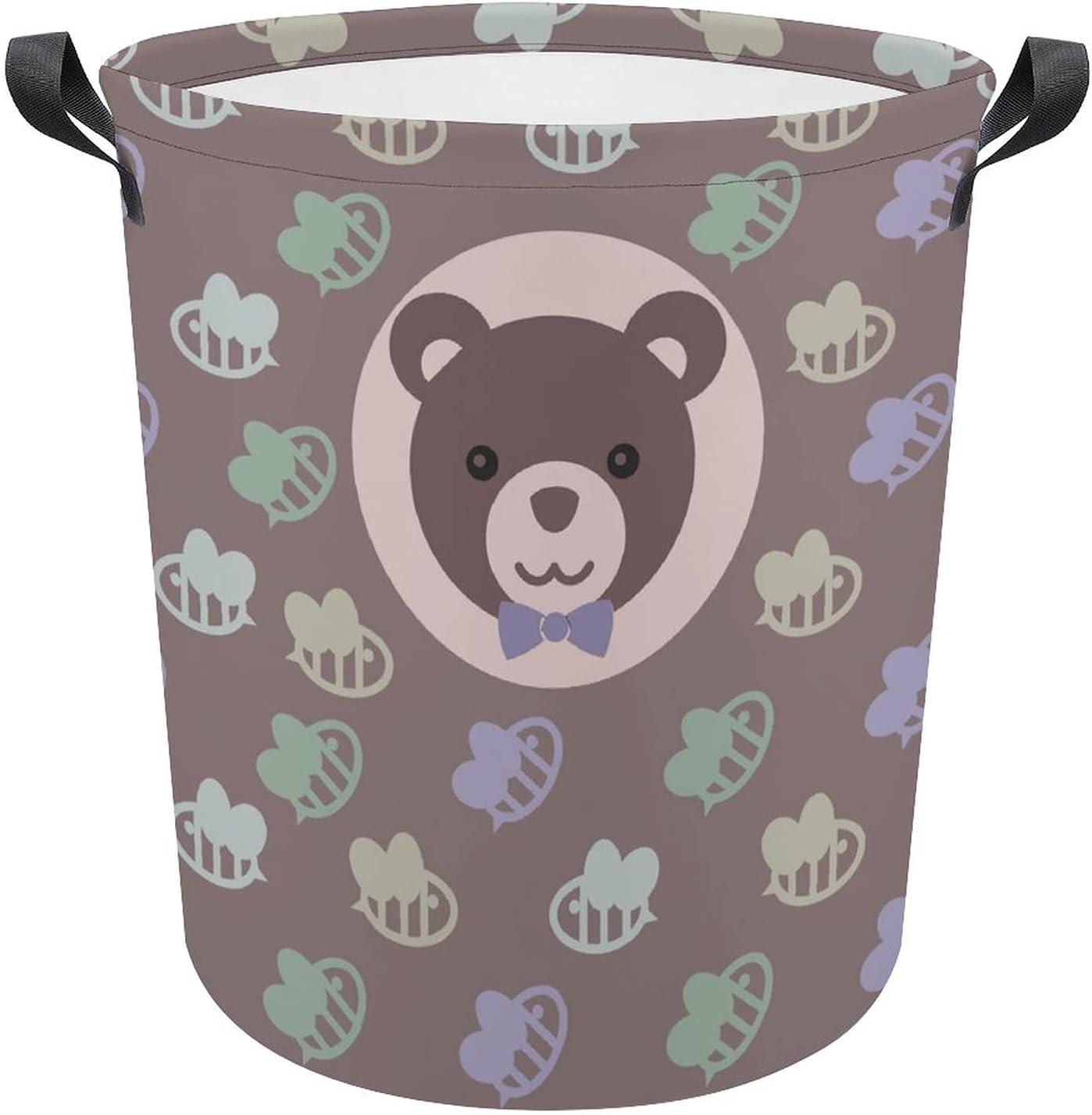 Cute Cartoon Jacksonville Mall Bear with Max 77% OFF Honey Laundry Hamper Oxford Gift Birthday
