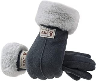 Ausexy_ Winter Gloves for Women Thermal Waterproof, Anti-Slip Elastic Cuff Soft Lining Gloves