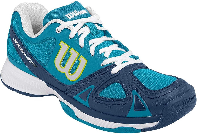 Wilson Women`s Rush Evo Tennis shoes Light Ultramarine and Pacific Teal (6)