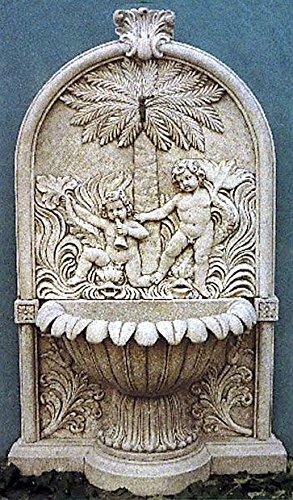 pompidu-living Wandbrunnen, Zierbrunnen, Springbrunnen Mallorca Farbe Terracotta