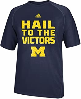 adidas Michigan Wolverines Blue Sideline Swagger Climalite Short Sleeve Shirt