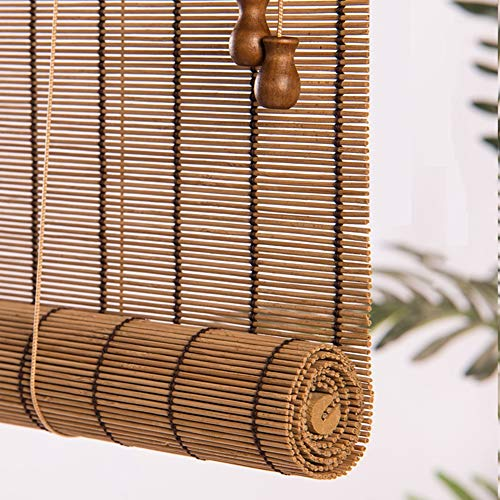 Estores Enrollables Cortina de Persianas Enrollables de Bambú, para Filtrar la Luz de la Ventana del Balcón Exterior, Persiana Enrollable Ligera (Size : 120×180cm)