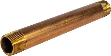 """Everflow Supplies NPBR3480 20 cm długi mosiężny łącznik do sutków z średnicą nominalną 3/4"""" i końcami NPT"""