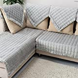 OstepDecor Multi-size Pet Dog Couch Rectangular Winter Quilted Furniture Protectors Covers for Sofa, Loveseat | ONE PIECE | Backing and Armrest Sold Separately | Grey 28'W x 59'L (70 x 150cm)