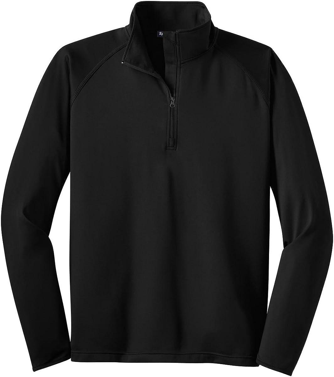 Sport-Tek Tall Sport-Wick Stretch 1/2-Zip Pullover 4XLT Black