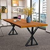Ejoyous DIY Pieds pour Table Moderns, Pieds de Meuble Industriels Pieds de Table Basse à la Mode Pieds de Meuble en Metal Fiable...